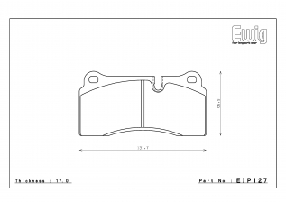 Тормозные колодки ENDLESS MX72 PLUS EIP127 (RCP077) FERRARI F40 F50/AUDI R8/Gallardo 5.0, Street/Circuit compound, перед/зад