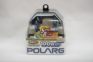 Лампы галогенные Polarg Super Beam Halogen White C-5 9005(HB3) 12V 65W(100W) 3800K